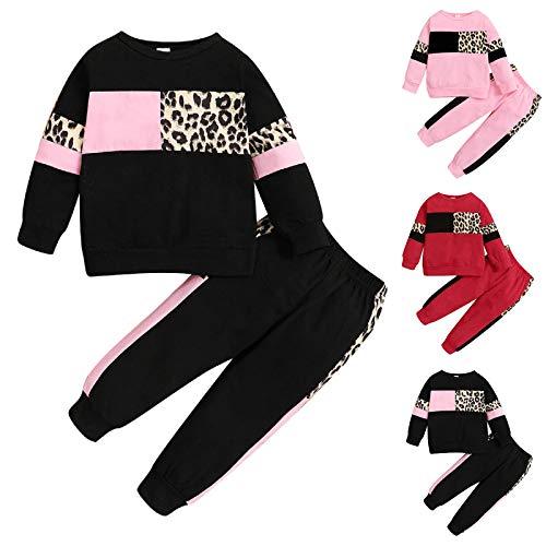 Haokaini Kinder Kleinkind Outfits Langarm Kleidung Set Pullover Hoodie Sweatshirt Hosen Kleidung Set für...