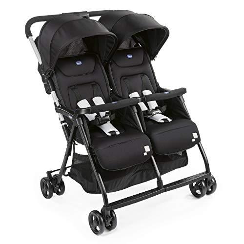 Chicco OHlalà Twin Geschwisterwagen von Geburt bis 15 kg, Kinderwagen für Zwillinge und Geschwister,...
