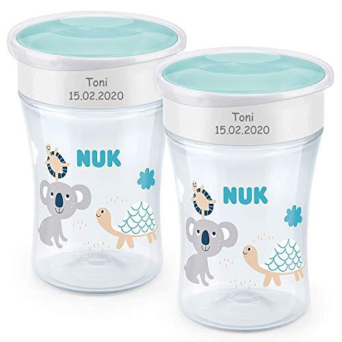 NUK Magic Cup Trinklernbecher mit persönlicher Gravur   auslaufsicherer 360°-Trinkrand   8+ Monate  ...
