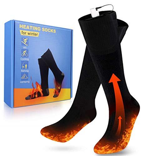 PECHTY Beheizte Socken, Fußwärmer Elektrisch, Wiederaufladbare Warme Socken, 3 Heizungseinstellungen...