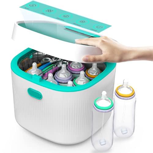 4 in 1 UV Sterilisator für Babyflaschen POWFU Quecksilberfreier UV-Sterilisator und Trockner,72h keimfreie...