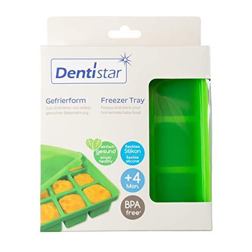Dentistar® Gefrierform zum Einfrieren und Aufbewahren von selbstgekochter Babynahrung und Muttermilch - für...