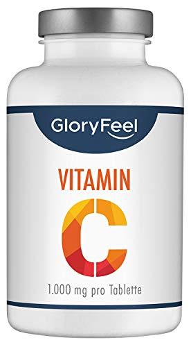 Vitamin C 1000mg - Vergleichssieger 2020* - 200 Tabletten (7 Monate) - Unterstützt Nerven- und Immunsystem**...