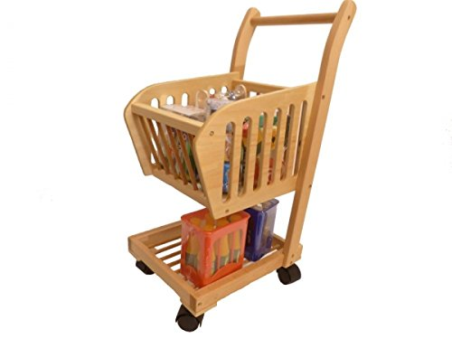Holzspielzeug-Peitz Kinder-Einkaufswagen