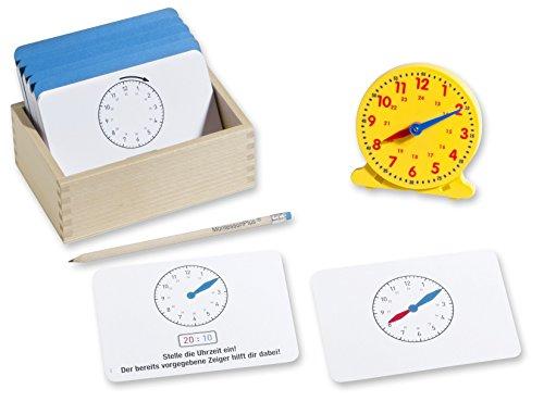endlich die Uhrzeit verstehen mit Lernuhr, 110 Lernkarten inkl. Selbstkontrolle, Montessori-Lernmaterial