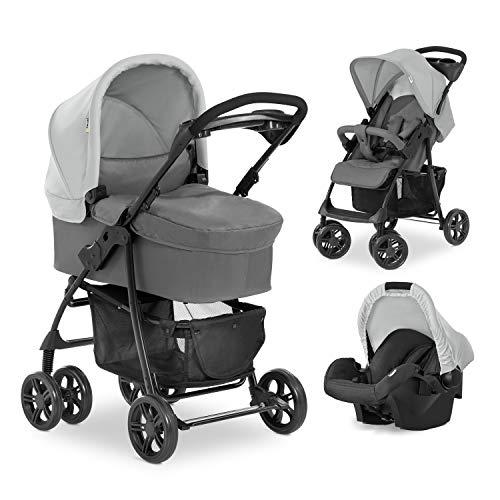 Hauck Kombi Kinderwagen Shopper Trio Set / inkl. Baby Wanne mit Matratze / Reise System mit Autositz / Buggy...