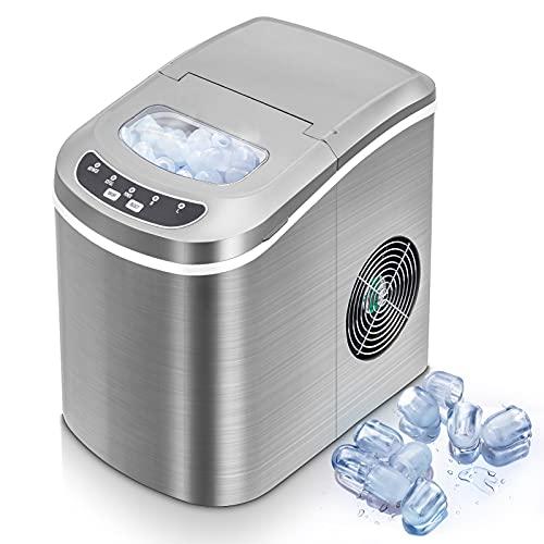 Eiswürfelmaschine - Neue Tragbare Eismaschine für Haushalt/Büro - 15kg Eis in 24 Stunden - 2...