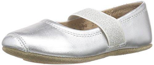 Bisgaard Mädchen Ballet Geschlossene Ballerinas, Silber (01 Silver), 28 EU