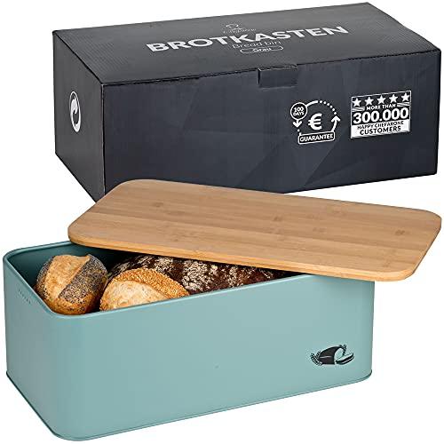 Chefarone Brotkasten Schneidebrett und Deckel in einem - Brotbox mit Lüftungslöchern für langanhaltend...