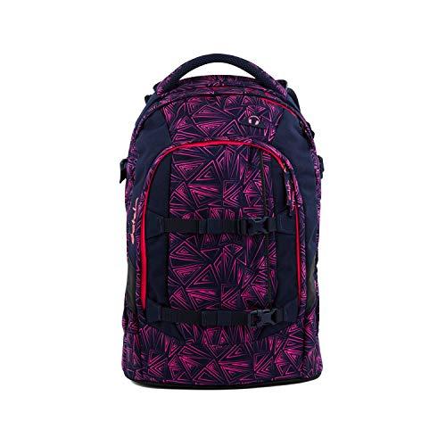 satch Pack Pink Bermuda, ergonomischer Schulrucksack, 30 Liter, Organisationstalent, Pink/Dunkelblau