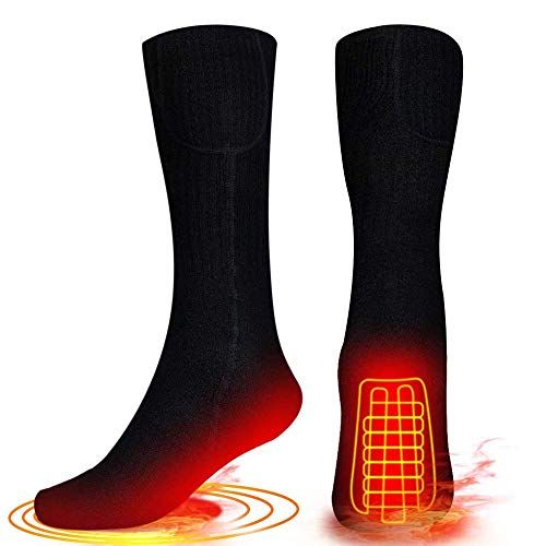 MEXEE Beheizte Socken für Herren Damen, Batterie Heizsocken Elektrische Warme Socken Fußwärmer Socken...