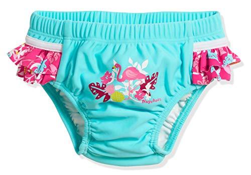 Playshoes Baby-Mädchen UV-Schutz Windelhose Flamingo Schwimmwindel, Türkis (Türkis 15), 74...