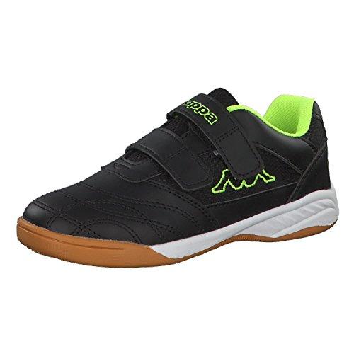 Kappa Kickoff Sneaker, Schwarz (1140 Black/Yellow), 30 EU
