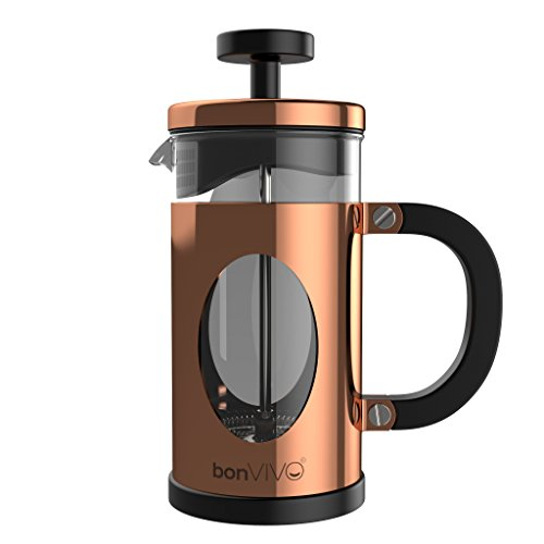 bonVIVO® GAZETARO I Design-Kaffeebereiter Und French Press Coffee Maker In Kupfer-Optik, Kaffee-Kanne Aus...