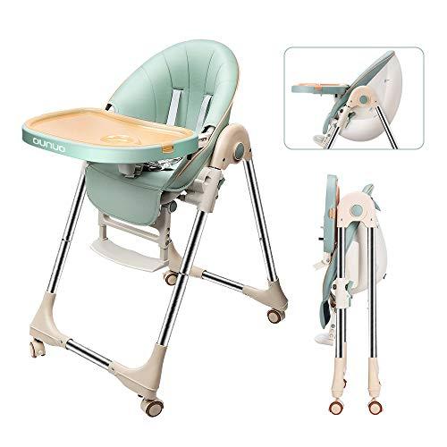OUNUO Baby Hochstuhl Vertehllbar und Klappbar kinderhochstuhl mitwachsend Kindersitz Kinderstuhl mit...