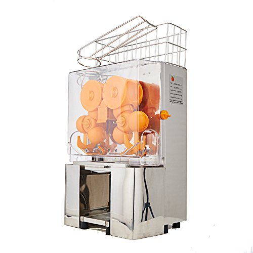 Ambesten Orangensaftpresse Orangenpresse Saftpresse Orange Juicer Standgerät aus Edelstahl 20 bis 30 Orangen...
