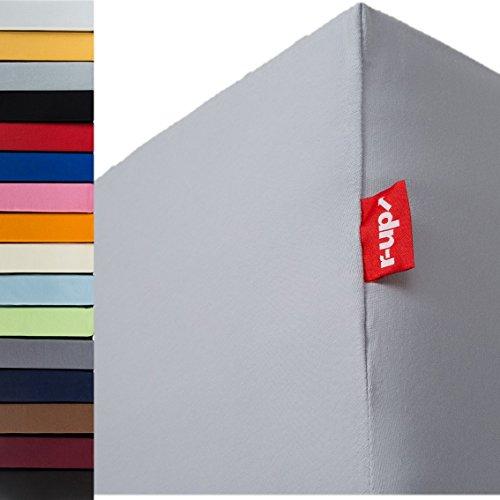 r-up Passt Spannbettlaken Doppelpack 90x200-100x200 bis 35cm Höhe viele Farben 100% Baumwolle 130g/m²...