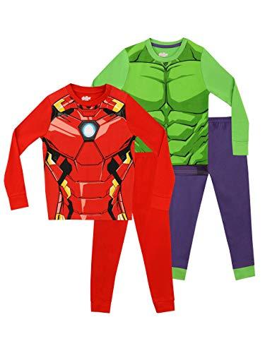Marvel Jungen Avengers Schlafanzug 2 Packung Mehrfarbig 98