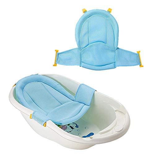 VOARGE Baby Badewanneneinsatz Sitz, Neugeborene Dusche Mesh für Badewanne verstellbar bequeme Badewannen,...
