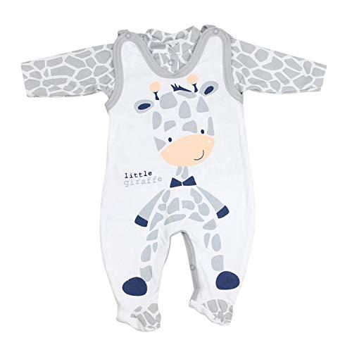 TupTam Baby Unisex Strampler-Set mit Aufdruck Spruch 2-TLG, Farbe: Giraffe, Größe: 56