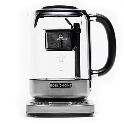 BOB HOME Teekochautomat TEATIME - automatischer Tee- und Wasserkocher, 2200 Watt, Timer, Temperatur- und...