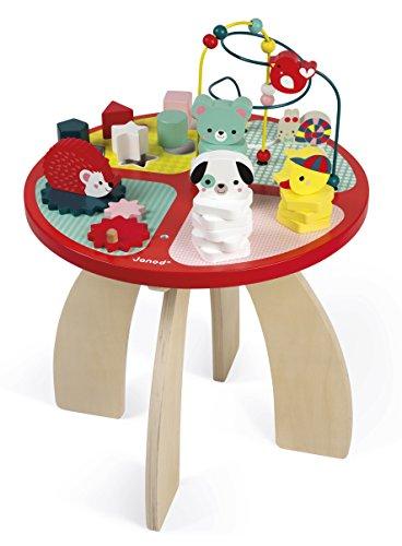 Janod Spieltisch Baby Forest aus Holz - Stapeln, Sortieren und Geschicklichkeit - Baby Spielzeug mit...