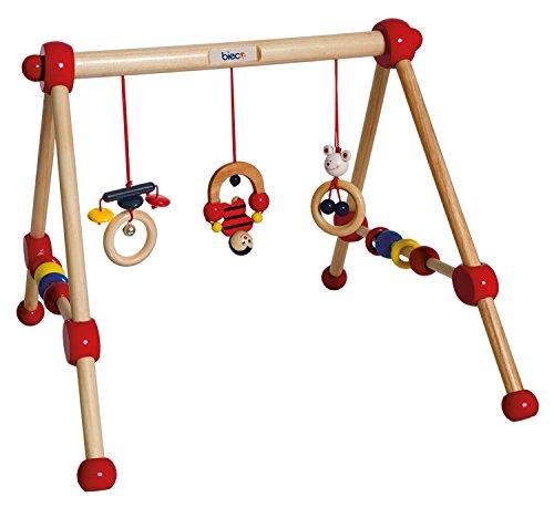 bieco Spieltrapez First Gym Holz, buntes Motorikspielzeug für Neugeborene und Kleinkinder ab der Geburt,...