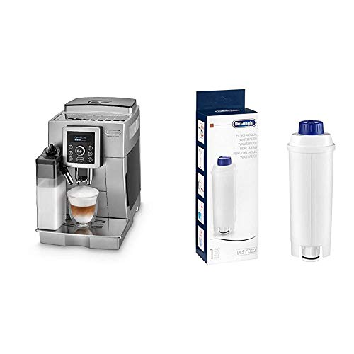 De'Longhi ECAM 23.466.S Kaffeevollautomat mit Milchsystem, Großer 1,8 Liter Wassertank, silber & Original...