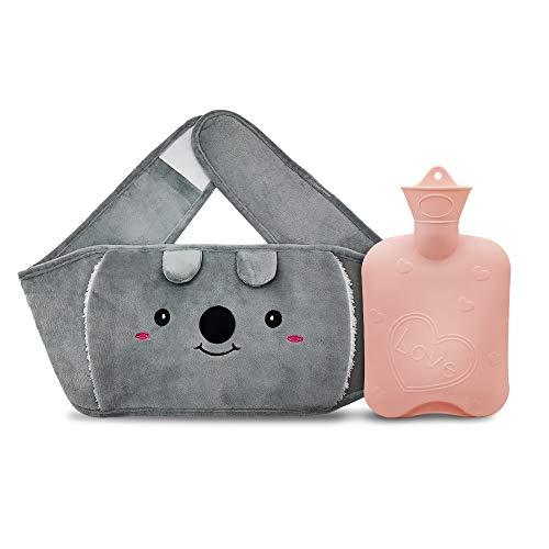Wärmflasche, Wärmeflaschen mit Bezug mit Weichem Plüsch-Handwärmerbezug Geprüft und Frei Von Schadstoffen...