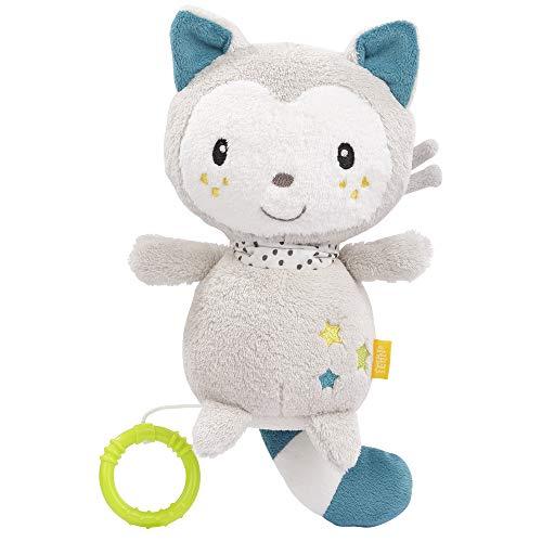 FEHN 057089 Spieluhr Katze / Kuscheltier & Einschlafhilfe: Aufzieh-Spieluhr mit sanfter Melodie beruhigt in...