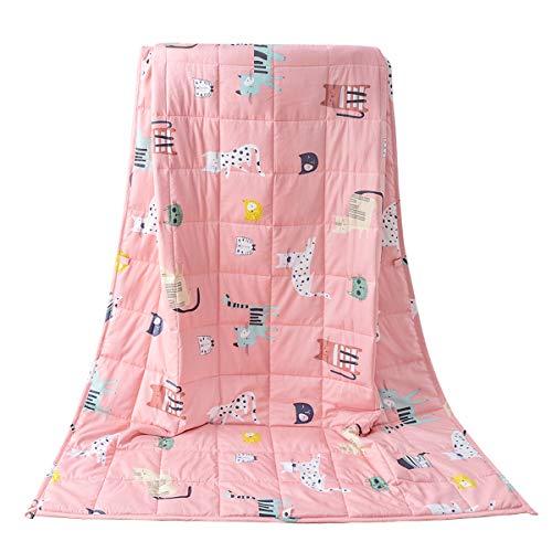 Sivio Kinder-Gewichtsdecke, 2.3 kg, 90x120 cm, 100% natürliche Baumwolle, Schwere Decke für Kinder und...