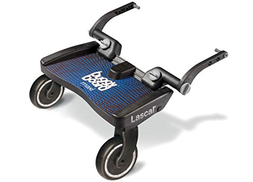 Lascal BuggyBoard Maxi, Kinderbuggy Trittbrett mit großer Stehfläche, Kinderwagen Zubehör für Kinder von...