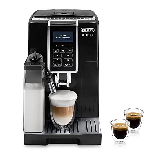 De'Longhi Dinamica ECAM 350.55.B Kaffeevollautomat mit LatteCrema Milchsystem, Cappuccino, Espresso & Kaffee...