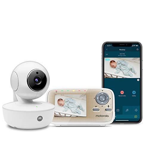 Motorola MBP669CONNECT Video-Babyphone mit 7,1 cm (2,8 Zoll) Handheld-Einheit und WLAN-Hubble-App für...