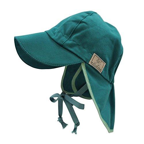 PICKAPOOH Baby/Kinder Sonnenhut/Sonnenmütze Tom mit UV-Schutz aus Reiner Bio-Baumwolle, Slate Green Gr. 50
