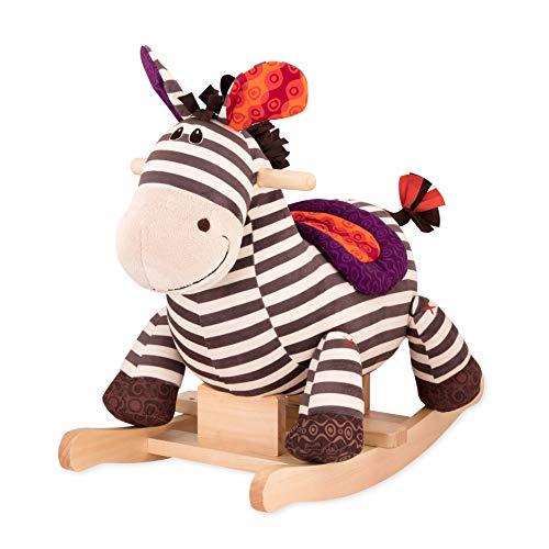 B. toys by Battat – Schaukelpferd Rodeo Rocker Zebra – BPA-freies Zebra Plüsch und Holz zum Aufsitzen...