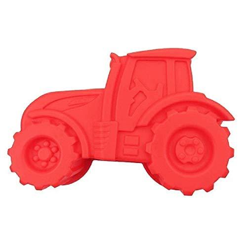 Q-Town Backform Traktor, rote Kuchenform zum backen für Kindergeburtstag,Silikonform, Bulldog Motivform,...