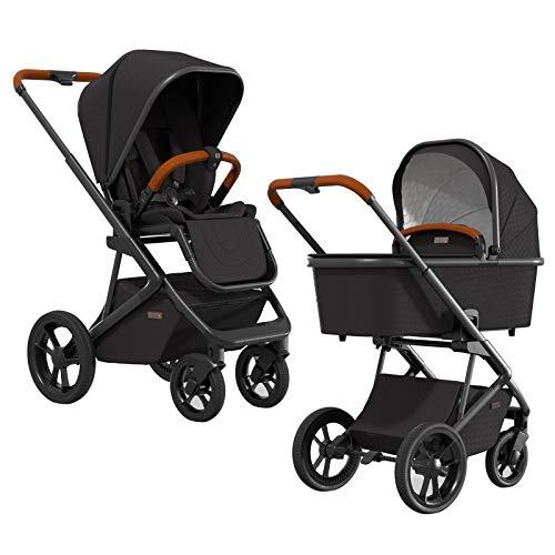 MOON STYLE – der stylische Komfort Kombi-Kinderwagen in black – modernes Design trifft intelligente...