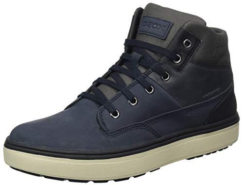 Geox J Mattias B Boy ABX Chukka Boot, Blau (Navy/Dark Grey), 36 EU