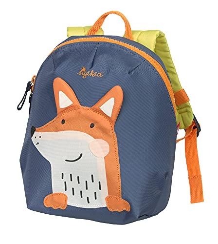 SIGIKID 25225 Mini Rucksack Fuchs Bags Mädchen und Jungen Kinderrucksack empfohlen ab 2 Jahren blau/orange