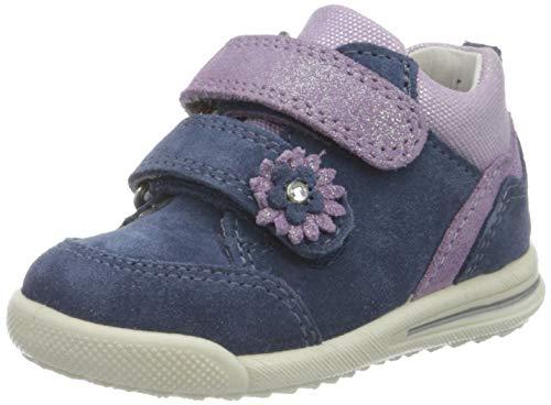 Superfit Mädchen Avrile Mini Sneaker, Blau (Blau/Lila 80), 24 EU