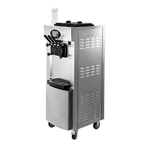 VEVOR Speiseeisbereiter Eismaschine Kommerziell Eismaschine MaschineMit LCD-Bildschirm und Waffeleiablage Ice...