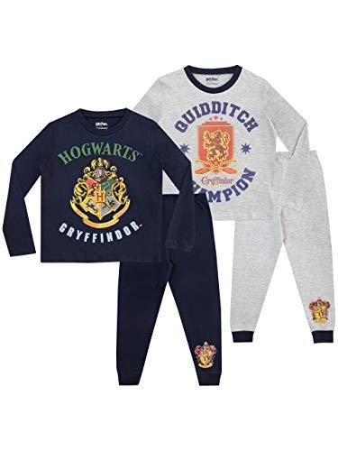 Harry Potter Jungen Hogwarts 2 Packung Schlafanzug Mehrfarbig 146