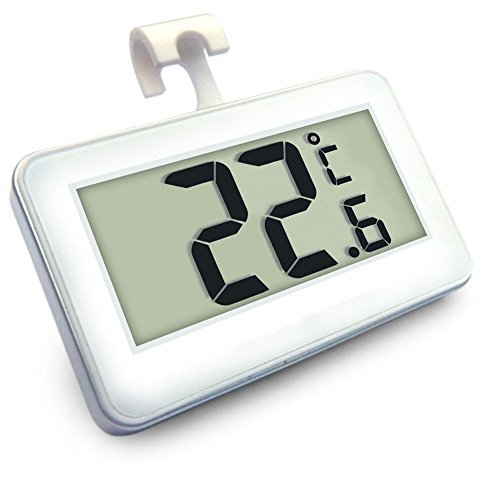Digital-Tiefkühltruhe-Thermometer Drahtloser Kühlraum-Thermometer und Innentemperatur-Monitor (große...