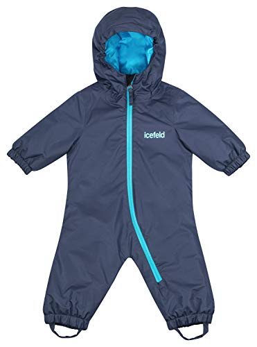 icefeld Schneeoverall/Skianzug für Babys und Kleinkinder (Jungen und Mädchen), Marineblau in Größe 86/92