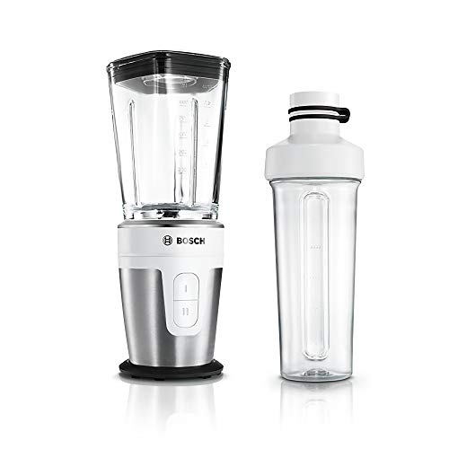 Bosch MMBM7G2M Mini-Standmixer (2Go-Flaschen, Glas-Mixbehälter, 2 Geschwindigkeitsstufen, 350 Watt)...