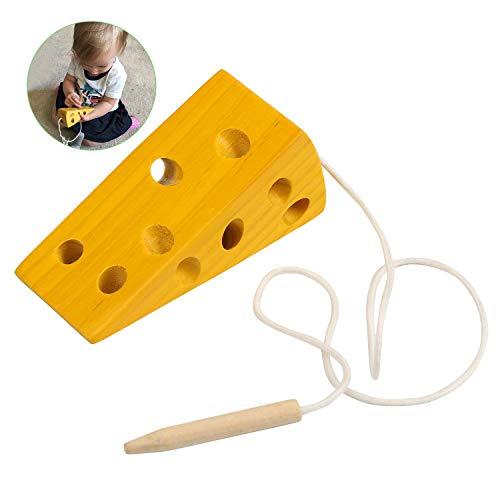 BelleStyle Montessori Aktivität Holzkäsespielzeug, Kinder Kinder Frühes Lernen Pädagogisches Holzblock...