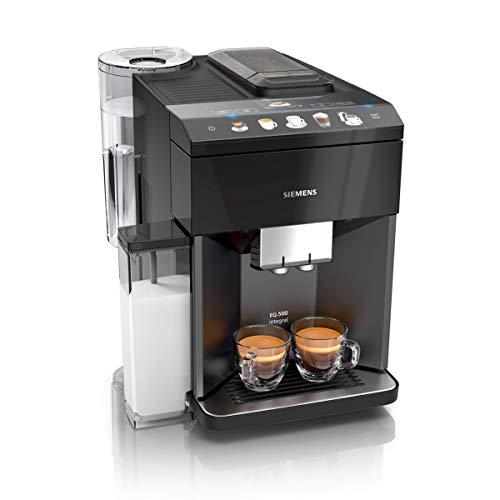 Siemens EQ.500 integral Kaffeevollautomat TQ505D09, einfache Bedienung, integrierter Milchbehälter, zwei...