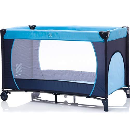 Reisebett Babyreisebett 120 x 60 cm für Baby/Kind von 0 – 5 Jahren mit Schlupfloch und Rollen