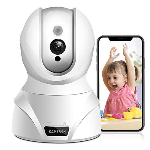 WLAN IP Kamera,KAMTRON HD WiFi Überwachungskamera,mit 350°/100°Schwenkbar,Home und Baby Monitor mit...